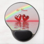 40th Anniversary Ruby Hearts Gel Mousepads