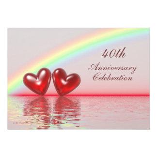 40th Anniversary Ruby Hearts Custom Announcement