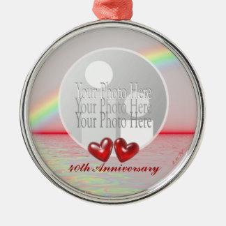 40th Anniversary Ruby Hearts (photo frame) Christmas Ornament