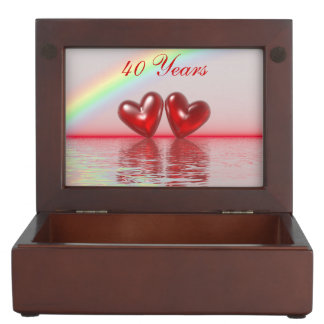 40th Anniversary Ruby Hearts Memory Boxes