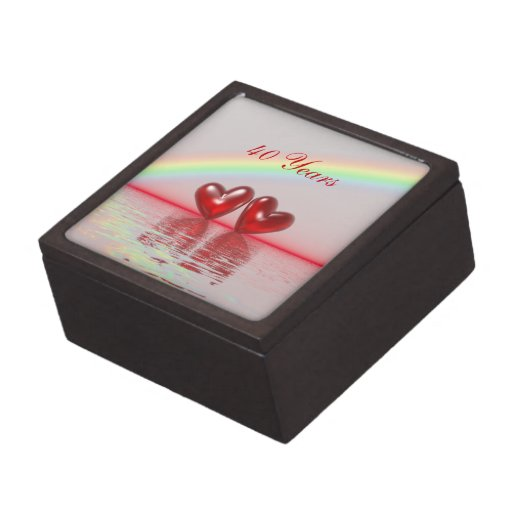 40th Anniversary Ruby Hearts Premium Jewelry Box