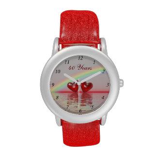 40th Anniversary Ruby Hearts Wrist Watch