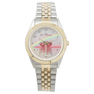 40th Anniversary Ruby Hearts Watch