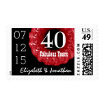 40th Anniversary RUBY RED Roses Wreath V01H1 Postage Stamps