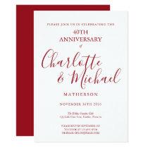 40th Anniversary Ruby Signature Invitation