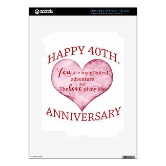 40th. Anniversary Skin For iPad 3
