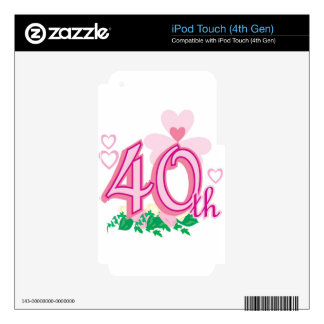 40th anniversary skin for iPod touch 4G