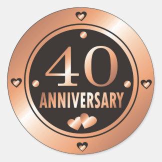 40th Anniversary Stickers