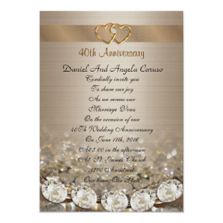 40th Anniversary vow renewal Invitation