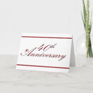 40th Anniversary (wedding anniversary) Card