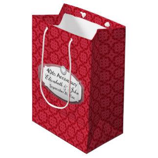 40th Anniversary Wedding Anniversary Ruby Red Z061 Medium Gift Bag