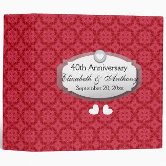 ruby anniversary 3 ring binders zazzle