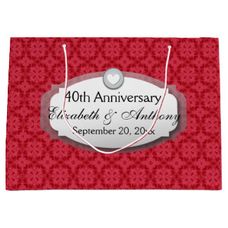 40th Anniversary Wedding Anniversary Ruby Red Z06 Large Gift Bag