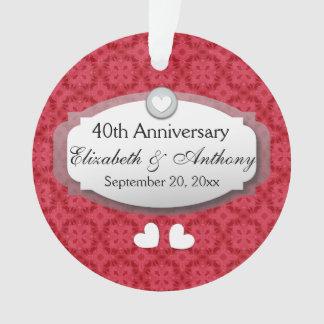 40th Anniversary Wedding Anniversary Ruby Red Z06 Ornament