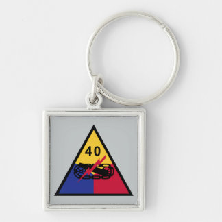 40th Armored Division Keychain