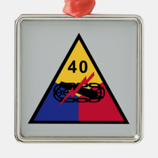 40th Armored Division Metal Ornament