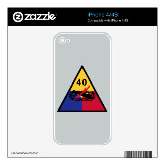 40th Armored Division Skin For iPhone 4