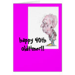 40th bday greeting card