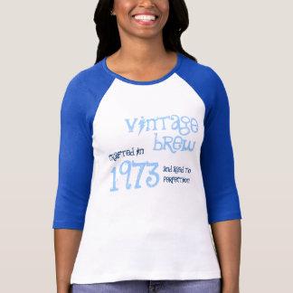 40th Birthday 1973 Vintage Brew Baby Blue 043 T-Shirt