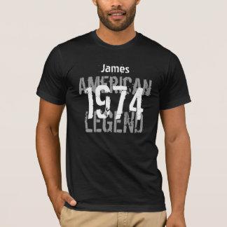 40th Birthday 1974 Custom Name American Legend T-Shirt