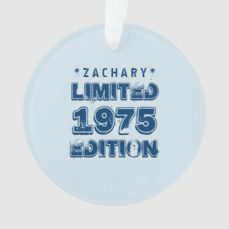 40th Birthday 1975 Limited Edition Custom E21 BLUE Ornament
