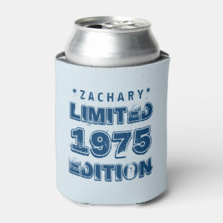 40th Birthday 1975 Limited Edition Custom E27 BLUE Can Cooler