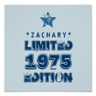 40th Birthday 1975 Limited Edition Custom E34A Poster