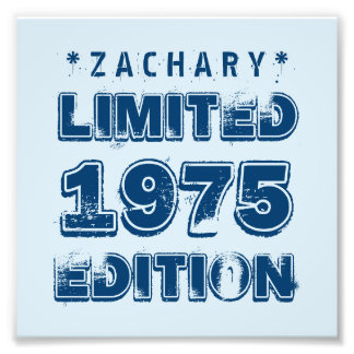 40th Birthday 1975 Limited Edition Custom E35 BLUE Photo Print