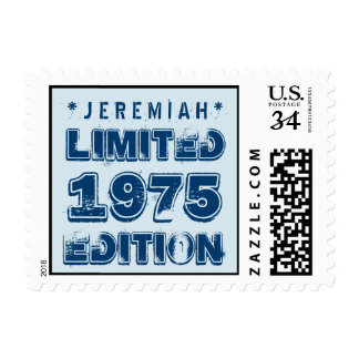 40th Birthday 1975 Limited Edition Custom E41 BLUE Postage