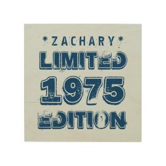 40th Birthday 1975 Limited Edition Custom E42 BLUE Wood Wall Art