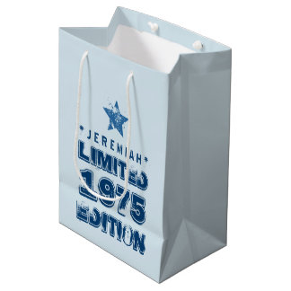 40th Birthday 1975 Limited Edition Custom E51 BLUE Medium Gift Bag