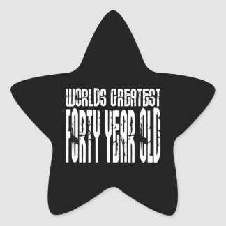 40th Birthday 40 World's Greatest Forty Year Old Stickers