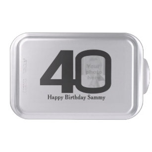 40th Birthday Add Your Own Photo Snap On Tin Cake Pan
