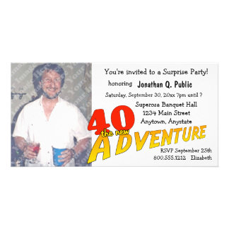 40th Birthday Adventure Party Photo Invitation