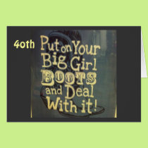 40TH BIRTHDAY ADVICE TO YOUR COUNTRY GAL CARD