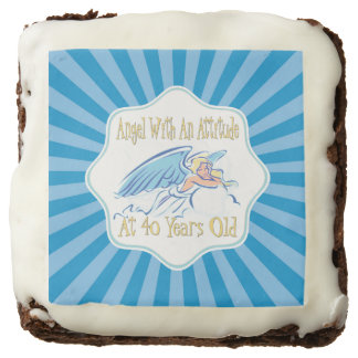 40th Birthday Angel With An Attitude Brownie