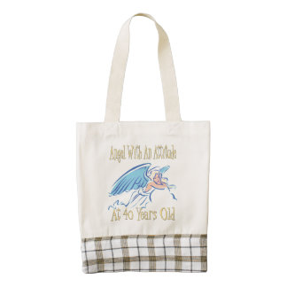 40th Birthday Angel With An Attitude Zazzle HEART Tote Bag
