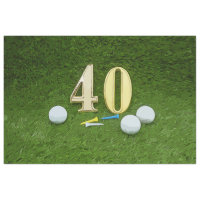 40th Birthday Anniversary / Wedding with golf ball Tissue Paper
