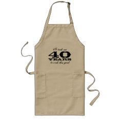 40th Birthday Apron For Men With Cute Cooking Joke at Zazzle