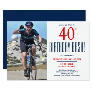 40th Birthday Bash! Birthday Party Invitation