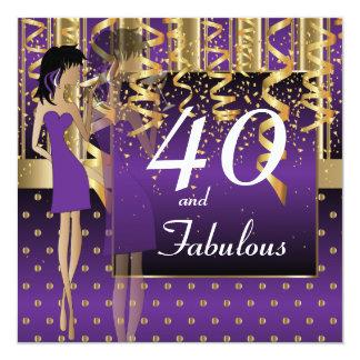 40th Birthday Bash Party Card