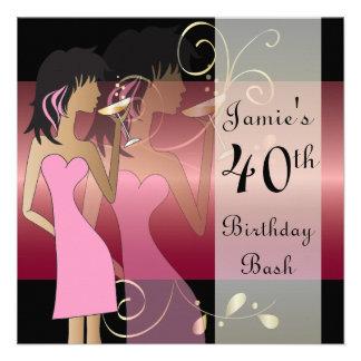 40th Birthday Bash Party Invitation Invitations