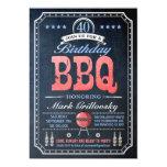 40th Birthday BBQ Invitations | Chalkboard