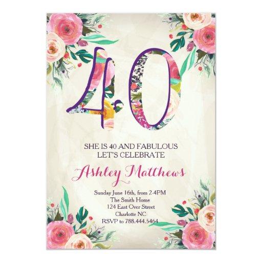 40Th Invitation was awesome invitation design