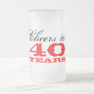 40th Birthday Beer Glass Mug | Gift for men