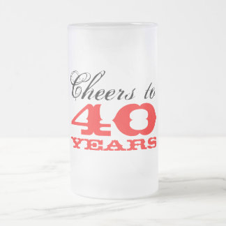 40th Birthday Beer Glass Mug Gift for men