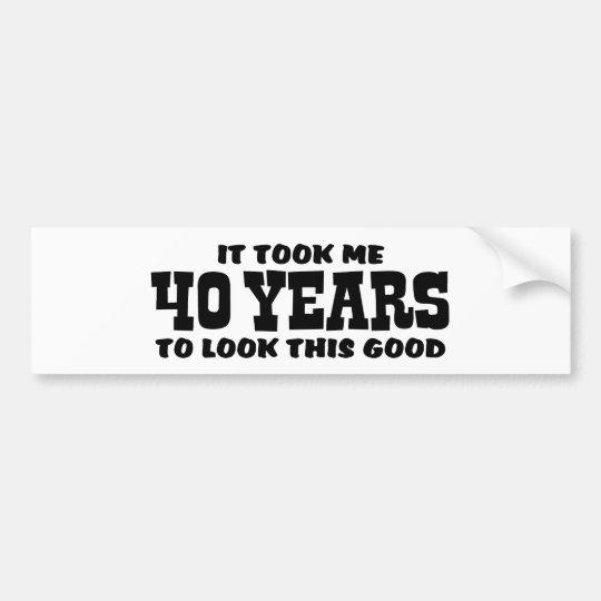 40th Birthday Bumper Sticker