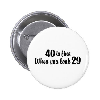 40th Birthday Buttons