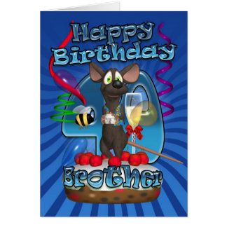 40th Birthday Card For Brother - Funky Mouse On A