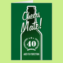 40th Birthday card for men | Aged to perfection